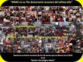 ARJAC en su 7to Aniversario resumen del ultimo año 18ENE17 podcast