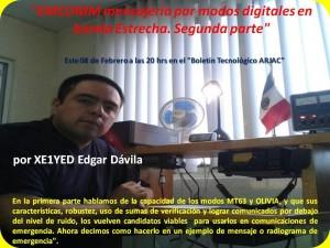 EMCOMM mensajería por modos digitales en baanda Estrecha Segunda parte 08FEB17 2