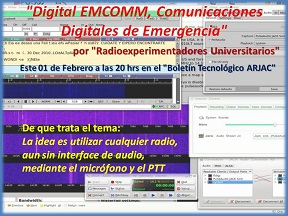 Radioaficionados Universitarios Digital EMCOMM Comunicaciones Digitales de Emergencia 01FEB17 2 podcaste