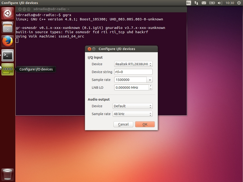 ISkywave Linux:SDR para Linux ubuntu